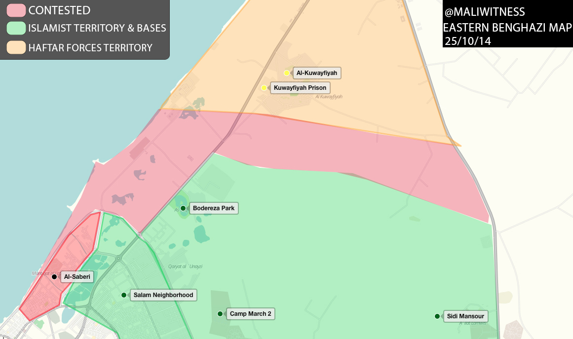 Eastern Benghazi Map 25102014 TheMagrebiNote