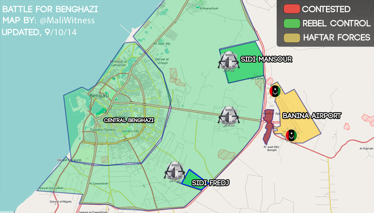 Map of Battle of Benghazi 91014 TheMagrebiNote