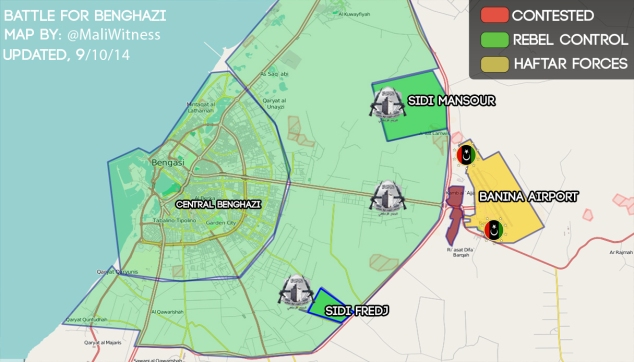 Map - Battle for benghazi-9-10-14